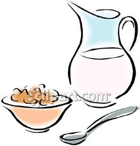 Cereal And Milk   Royalty Free Clipart Picture