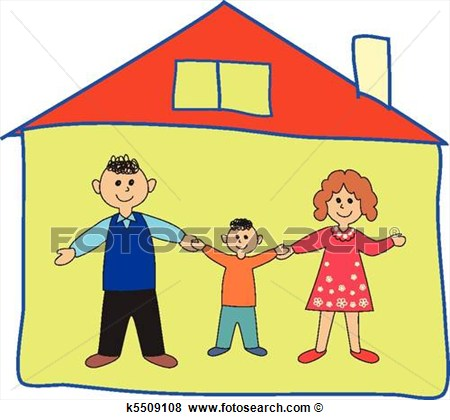Clip Art   Happy Family In The Home   Fotosearch   Search Clipart