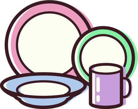 Clipart Cliparts Colored Coloured Creation Creations Cup Cups Dish
