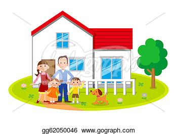 Family home clip art