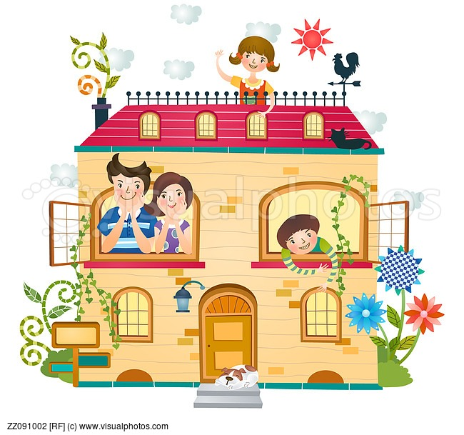 Family Home Clipart - Clipart Suggest