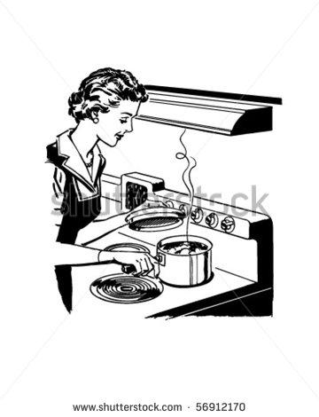 Home Cooking   Retro Clip Art   Stock Vector