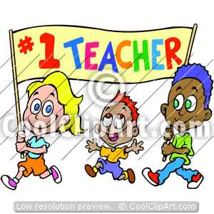 Keywords Teachers Day Kids With Banner Walking 1 Number One Teacher