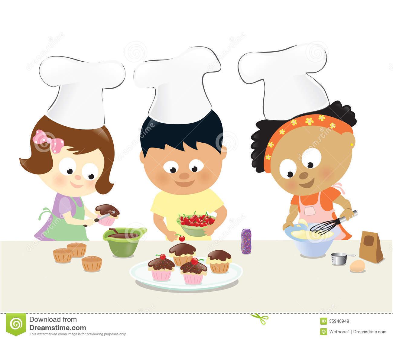 Cooking Cidren Clipart - Clipart Kid