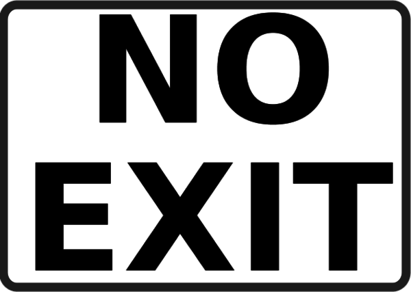 no exit sign clipart clipart suggest