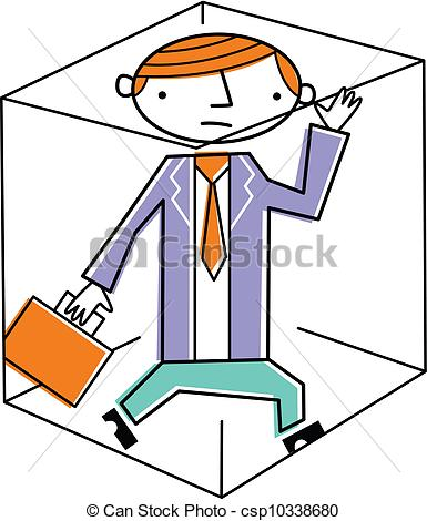 Of Businessman Trapped Inside Box Csp10338680   Search Eps Clip