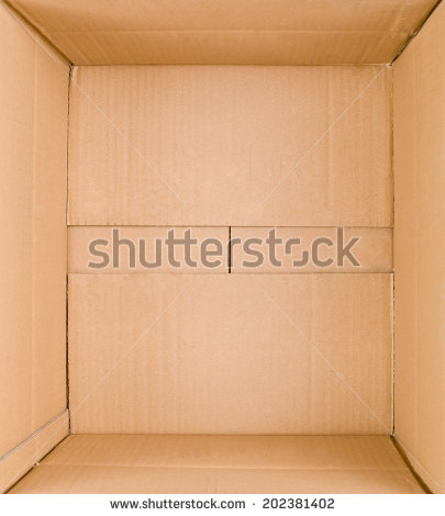 Packed Or Hidden Inside A Cardboard Packaging Box   Stock Photo