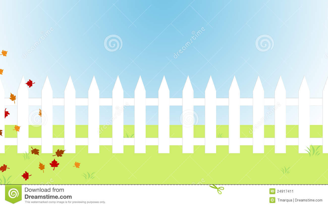house with fence clip art - photo #21