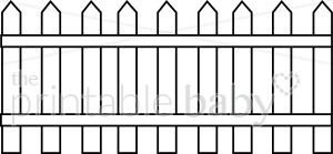 Picket Fence Clipart   Mommy   Daddy Clipart