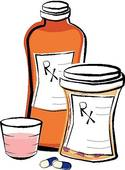 Prescription Medication Bottles   Royalty Free Clip Art