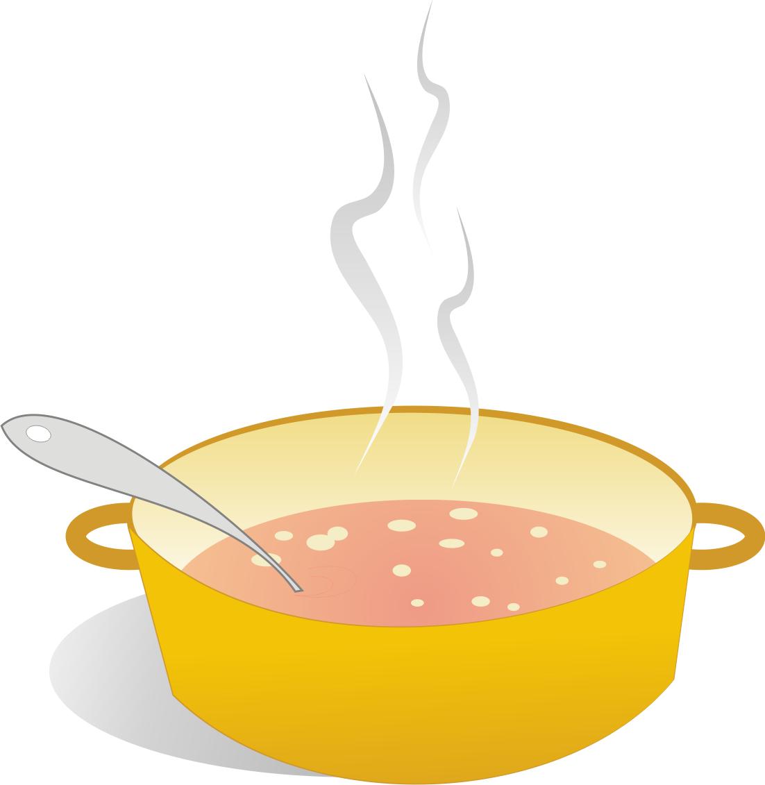 Soup pot clip art