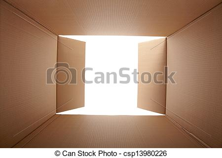Stock Photo Of Cardboard Box Inside View Csp13980226   Search Stock