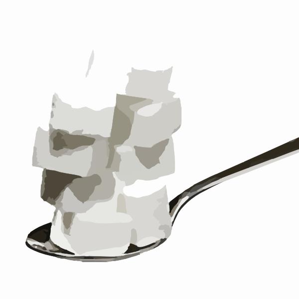 Sugar On Spoon Doctored Clip Art At Clker Com   Vector Clip Art Online