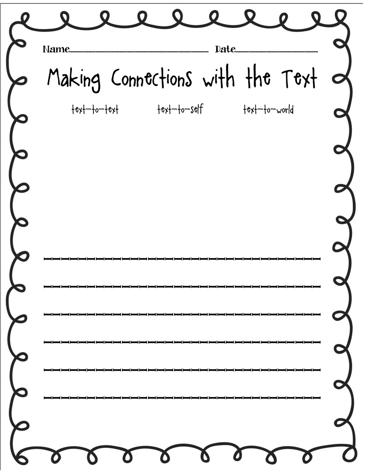 Collection Text To Text Connections Worksheet Photos - Studioxcess