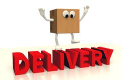 3d Graphics Delivery Package Happy Character Cartoon Ups Dhl