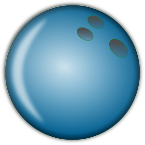 Bowling Ball Large Blue Clipart