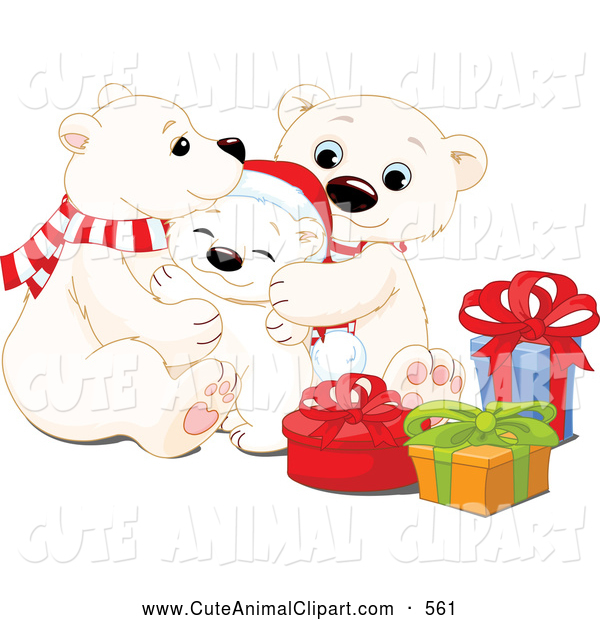 Cute Christmas Polar Bear Clip Art