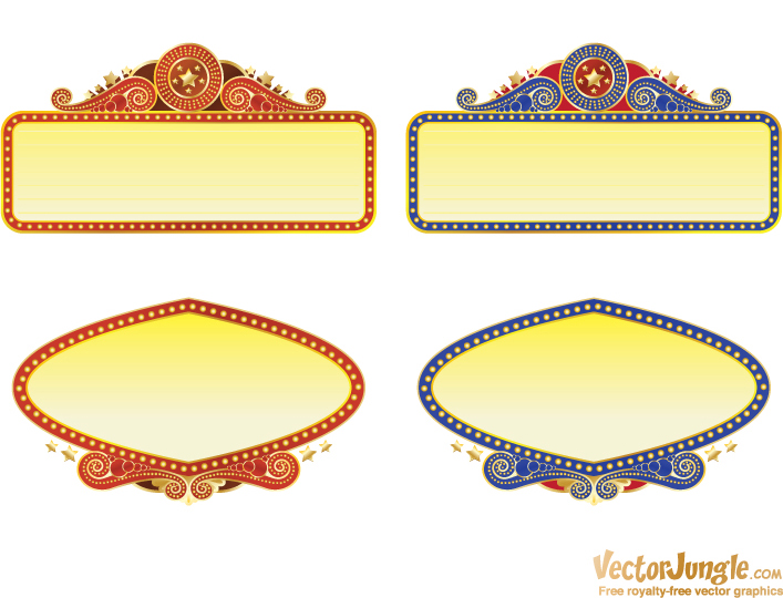 Free Vector Image Theatre Marquee Clipart