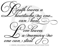 Funeral Poems And Funeral Quotes   Death Leaves A Heartache Funeral