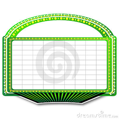 Green Theater Marquee Sign Royalty Free Stock Image   Image  16143506
