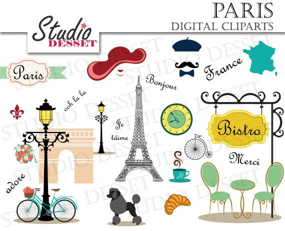 Paris Cliparts France Clip Art Eiffel Tower Poodle By Studiodesset  5