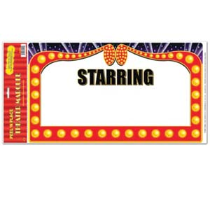 Theatre Marquee Peel N Place Has A Blank Area Ready For Your Clipart