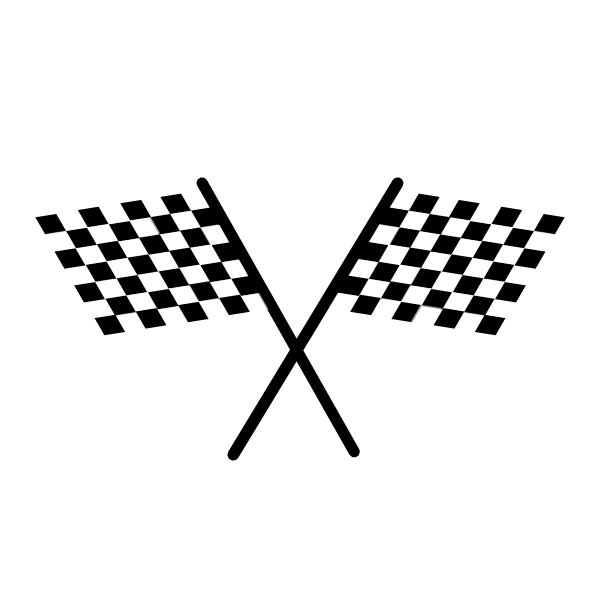 Two Checkered Flags Clip Art At Clker Com   Vector Clip Art Online