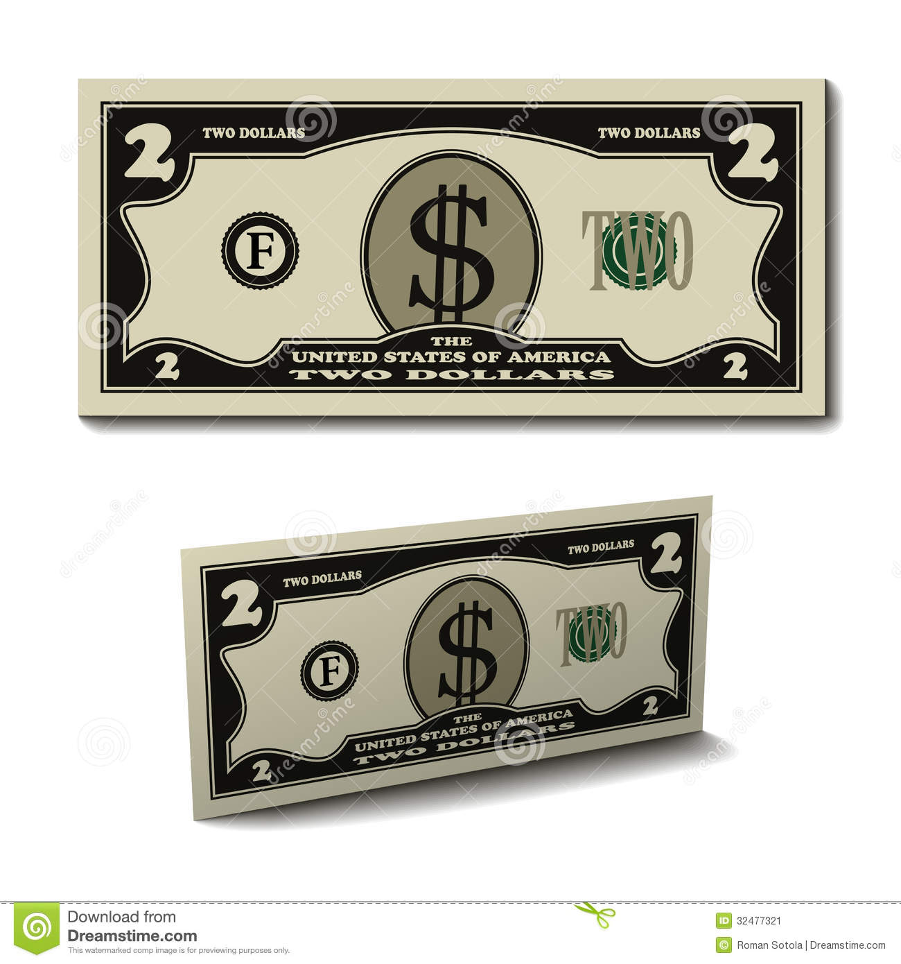 Clip Art 100 Dollar Bill Coloring Page two dollar bill clipart kid clip art