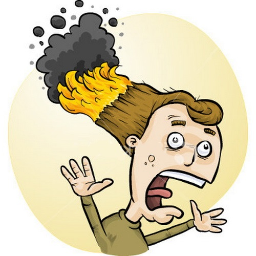Hair On Fire Clipart