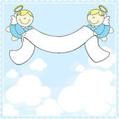Baptism Greeting Card   Clipart Graphic
