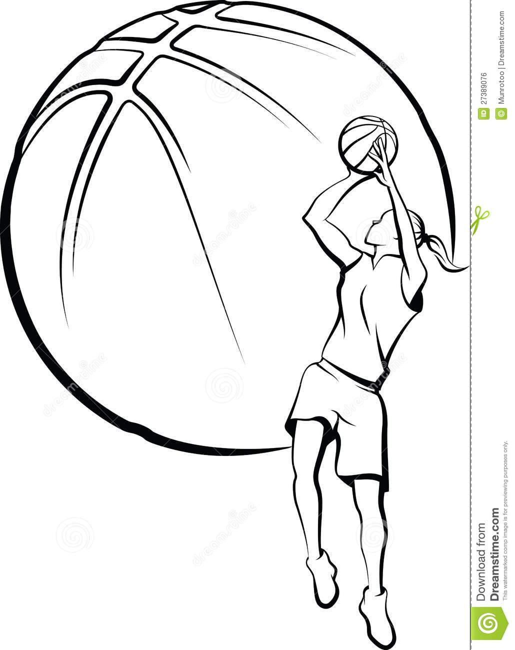 Girl Shooting Basketball Clipart - Clipart Suggest