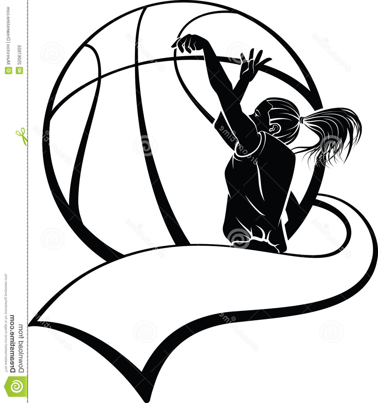 Girl Shooting Basketball Clipart - Clipart Kid