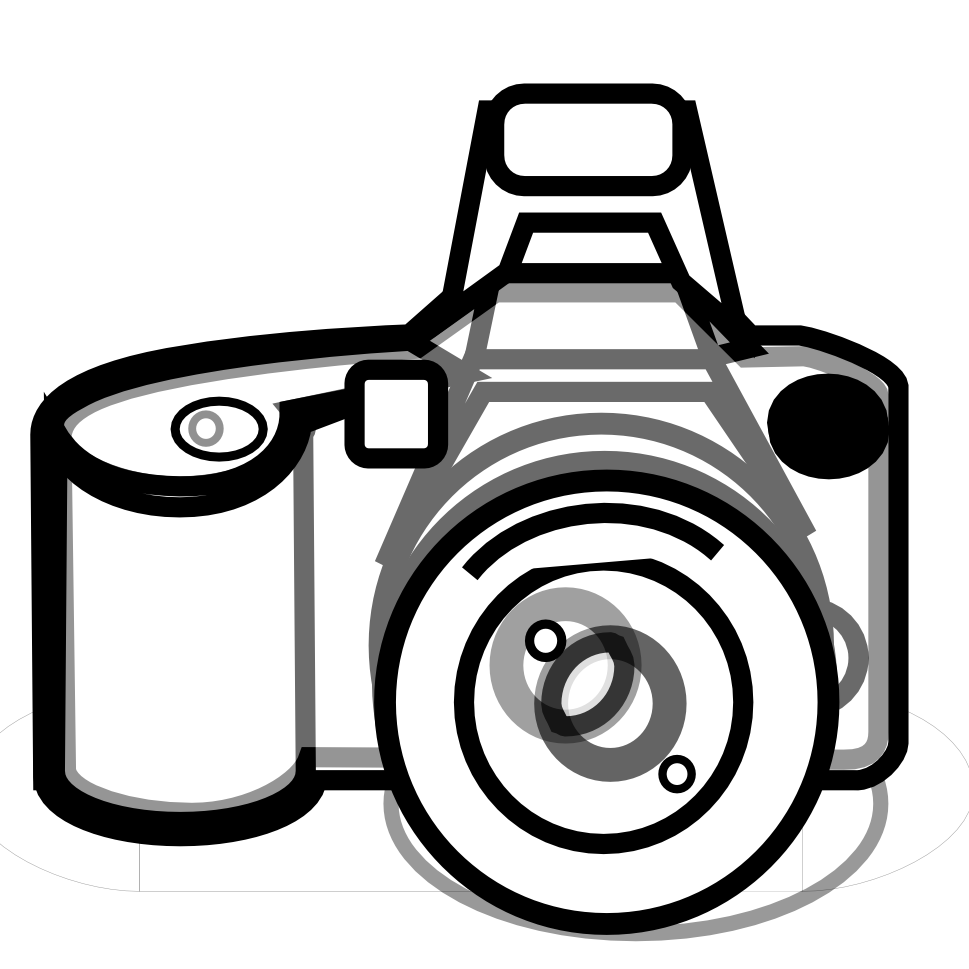 Camera Line Drawing Tattoo : Camera black and white clipart suggest