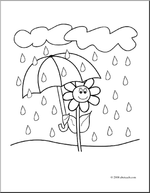 Rain Flowers Clipart - Clipart Suggest