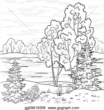 Clipart Forest Black And White