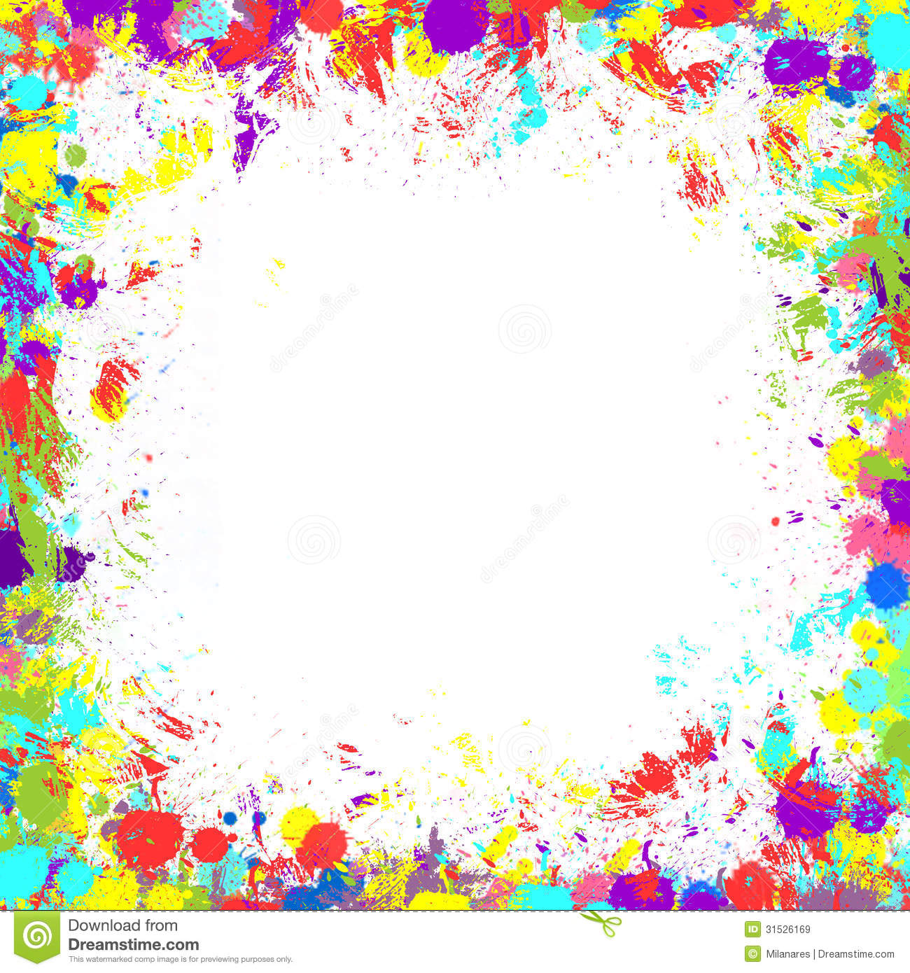 Colorful Inky Splash Frame Border Royalty Free Stock Images   Image