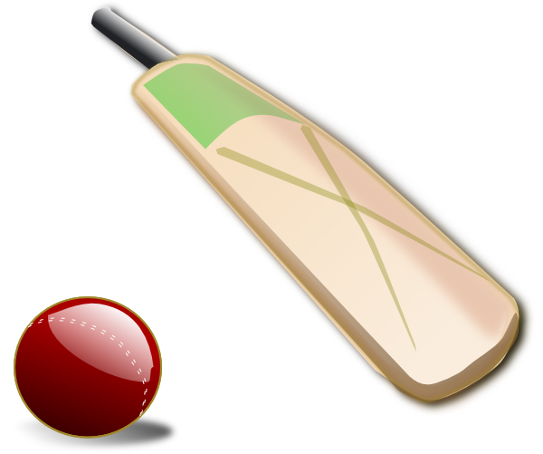 Cricket Bat And Ball Clip Art At Clker Com   Vector Clip Art Online