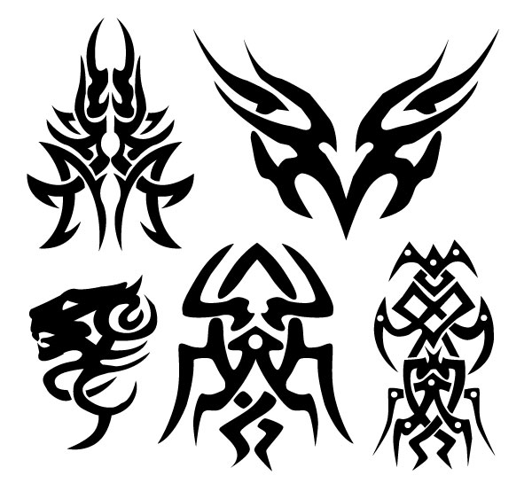 Flame Tattoo Vector Art Download Tribal Vectors Design Car Pictures