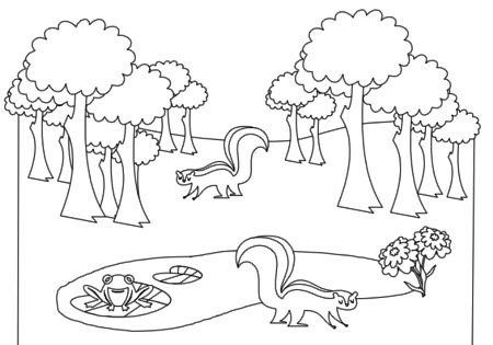 forest clip art black and white � cliparts