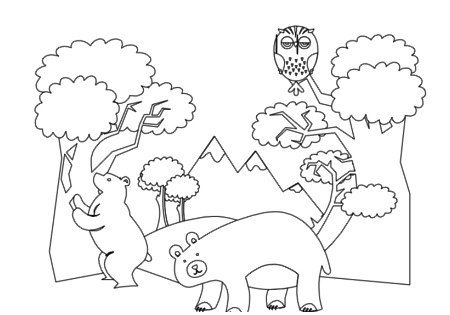 Forest Animals Coloring Book Pg 7   Flickr   Photo Sharing
