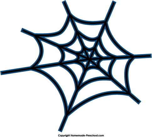 Home Free Clipart Halloween Clipart Spider Web Blue