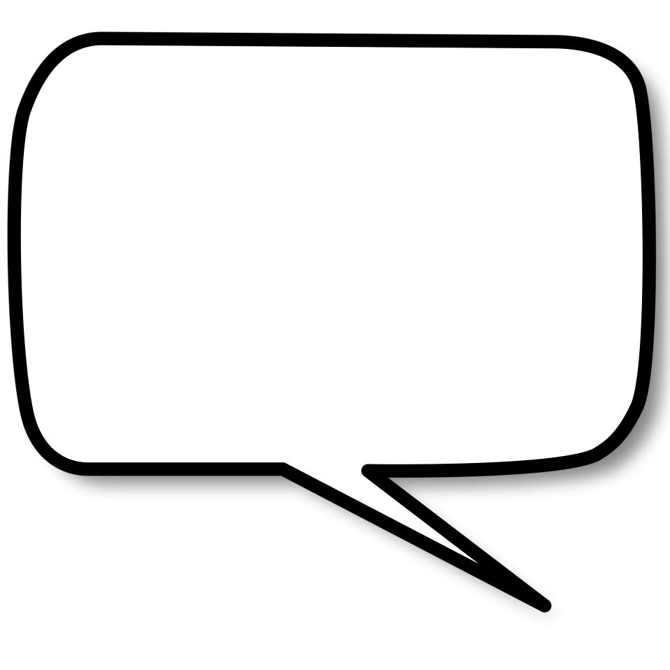 Illustration Of A Cartoon Speech Bubble   Free Stock Photo