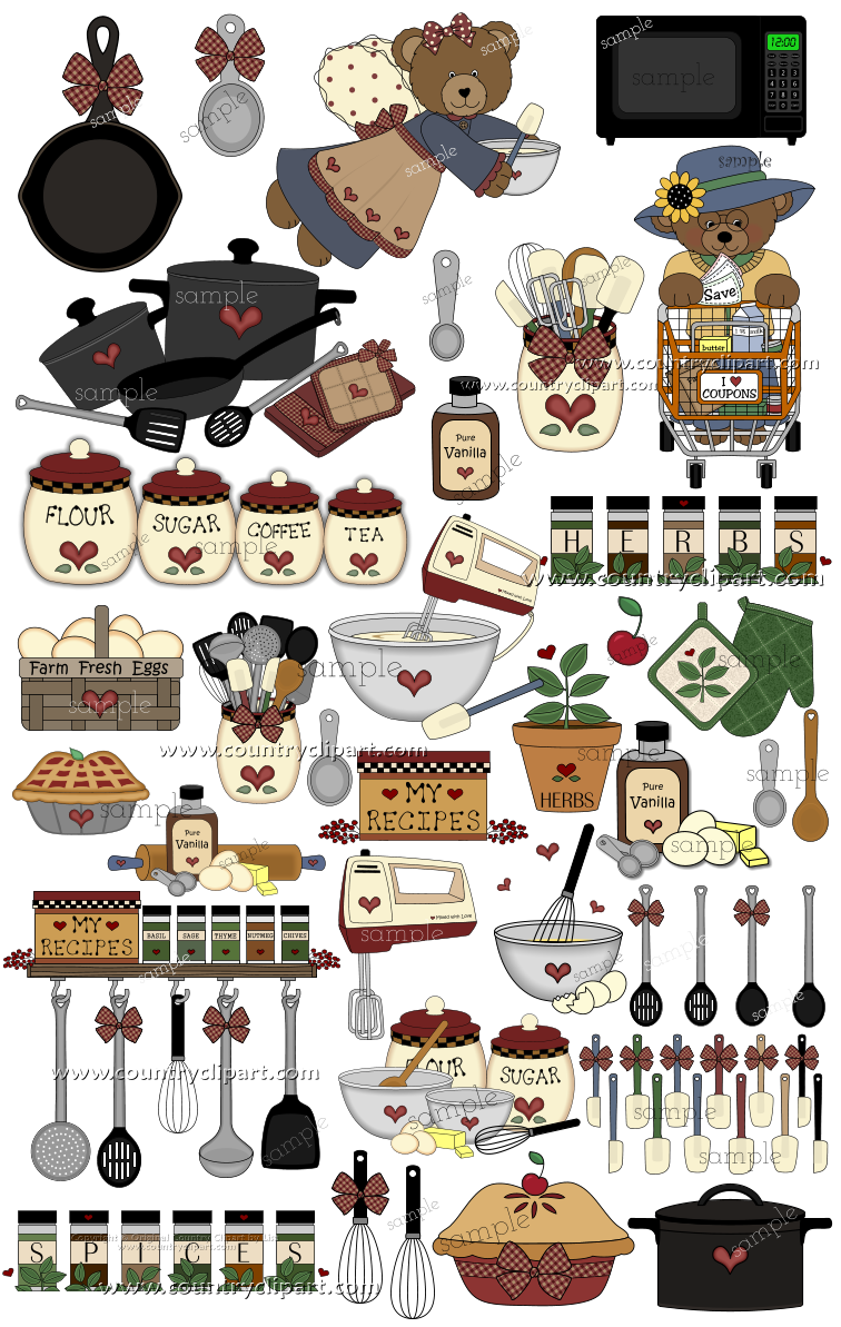 More Kitchen Food Cookingclip Art In The Country Club