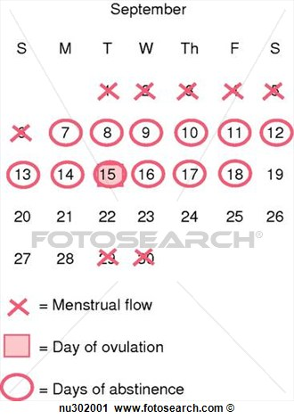 Natural Family Planning Method  X S Mark Menstrual Flow  O S Mark Days