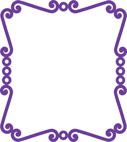 Purple Butterfly Scroll Clip Art At Clker Com