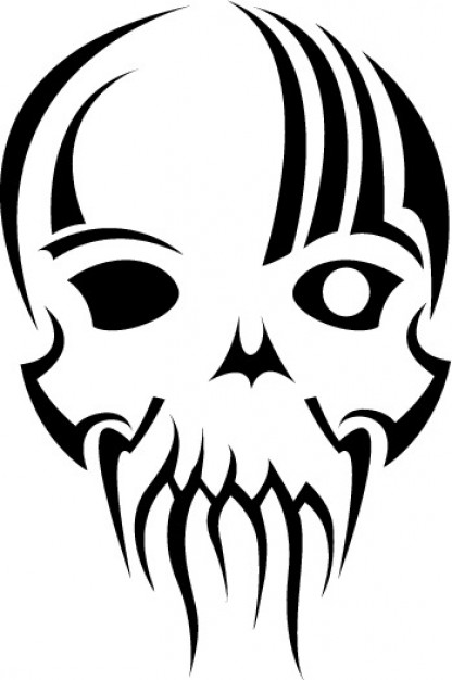 Tribal Mask Skull Vector Clip Art Vector   Free Download