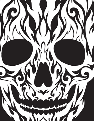 Tribal Skull Clipart