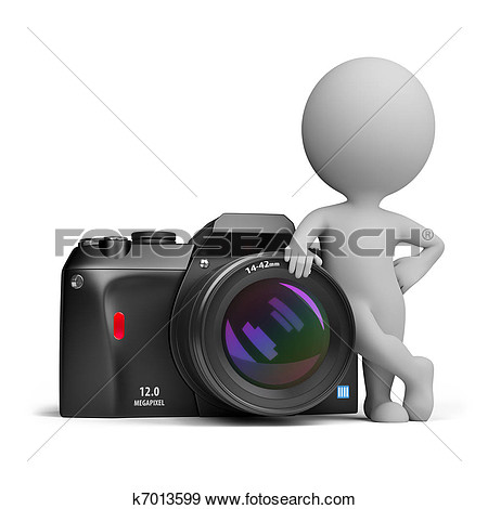 3d Small People   Digital Camera  Fotosearch   Search Vector Clipart