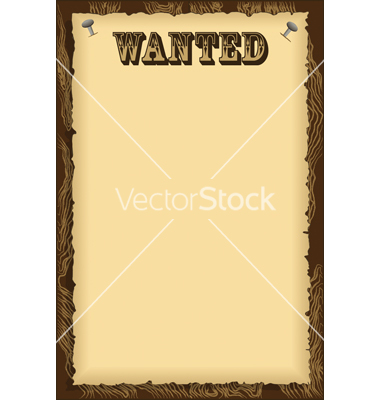 Blank Wanted Poster Template Clip Art