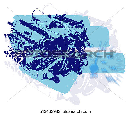 Clip Art   Engine Block  Fotosearch   Search Clipart Illustration